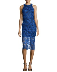Alexia Admor Sleeveless Lace Dress Royal Blue