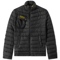 Barbour International Chain Baffle Quilt Jacket Black