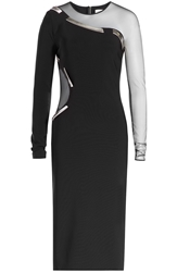 Thierry Mugler Dress With Sheer Mesh Inserts