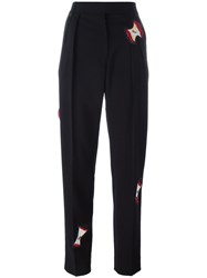 Paul Smith Apple Patches Straight Trousers Black