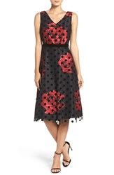 Donna Ricco Women's Layered Midi Dress