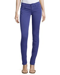 See By Chloe Skinny Cotton Blend Jeans Purple
