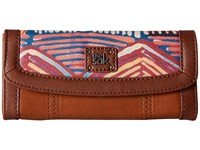 The Sak Iris Flap Wallet Madura Print Wallet Handbags Brown