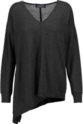 Magaschoni Silk And Cashmere Blend Sweater Dark Gray
