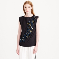 J.Crew Collection Jeweled Sash Shirt