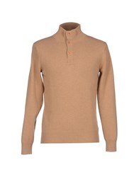 Kangra Cashmere Knitwear Turtlenecks Men Sand
