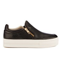 Ash Women's Jordy Snake Print Slip On Trainers Black