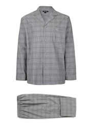 Topman Wolsey Grey Check Pyjama Set