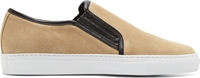 Balmain Beige Suede Slip On Sneakers