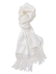 Paul Costelloe White Dress Scarf