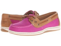 Sperry Firefish Nubby Canvas Bright Pink Women's Lace Up Casual Shoes