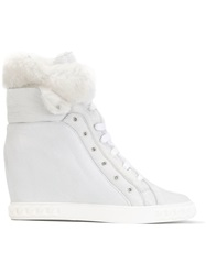 Casadei Concealed Wedge Sneakers White