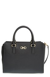 Salvatore Ferragamo 'Small Beky' Saffiano Leather Tote Black