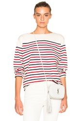 Mih Jeans M.I.H Simple Marinierie Top In White Red Blue Stripes White Red Blue Stripes