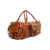 Satch And Fable Handmade Leather Duffel Carry On Bag