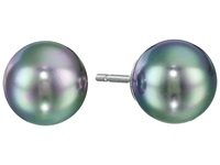 Majorica 8Mm Pearl Ss Earrings Gray Earring