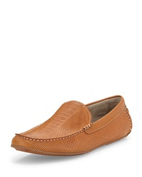 Nechita Perforated Leather Driver Tan