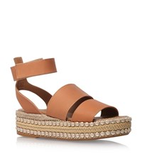 Kurt Geiger London Palma Flatform Sandals Female Beige