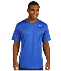Nike Legend Dri Fit Poly S S Crew Top Game Royal Carbon Heather Medium Grey Men's Short Sleeve Pullover Blue