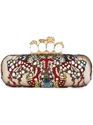 Alexander Mcqueen 'Knuckle' Long Box Clutch Pink And Purple