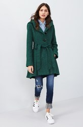 Steve Madden Women's Belted Hooded Skirted Coat