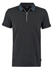 Kiomi Slim Fit Polo Shirt Black