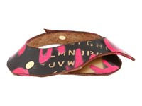 Leather Couture By Jessica Galindo Stamped Bangles Graffiti Hot Pink Magenta Bracelet Multi