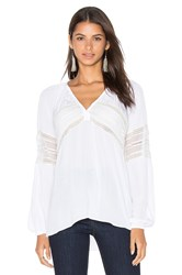Ramy Brook Kate Embellished Blouse White