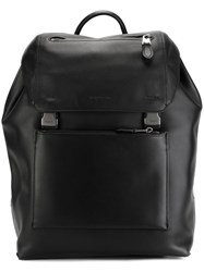 Coach Buckled Backpack Black
