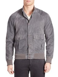 Tomas Maier Sporty Suede Jacket Heather Grey