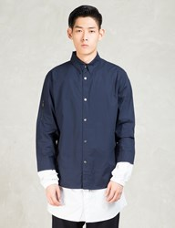 Still Good Navy White Layered Long Shirt