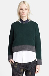 Marni Button Back Cashmere Blend Sweater Cypress Grey
