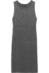 1205 Split Side Ribbed Wool Tunic Anthracite