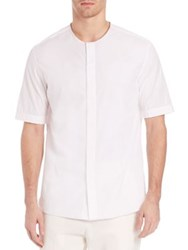 3.1 Phillip Lim Crewneck T Shirt With Covered Placket White