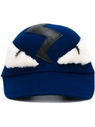 Fendi Bag Bugs Cap Blue