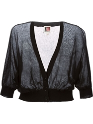 Isola Marras Sheer Cropped Cardigan Black
