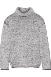 Theory Tessalee Wool And Cashmere Blend Turtleneck Sweater Ivory