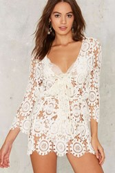 Coraline Crochet Mini Dress White