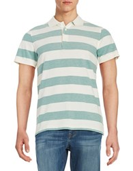 Brooks Brothers Striped Polo Green