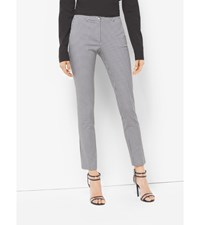 Samantha Gingham Stretch Cotton Skinny Pants