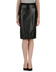 Boudicca Leather Skirts Black