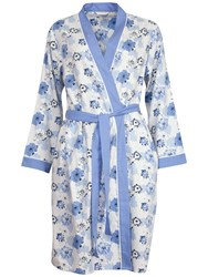 Cyberjammies Porcelain Doll Floral Print Robe Blue Multi