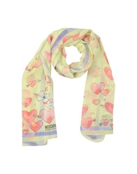Moschino Cheap And Chic Moschino Cheapandchic Oblong Scarves Light Green