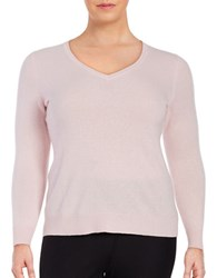 Lord And Taylor Plus Cashmere V Neck Sweater Sweet Kiss