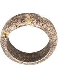 Tobias Wistisen Destroyed Effect Ring Metallic