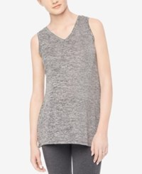 Motherhood Maternity V Neck Sleeveless Top Grey