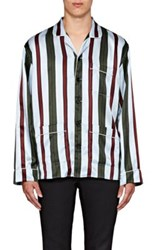Burberry X Barneys New York Men's Striped Silk Cotton Pajama Shirt No Color