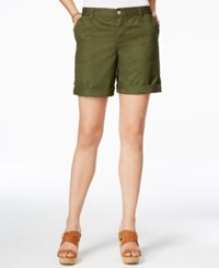 Tommy Hilfiger Relaxed Fit Cargo Shorts Olive Night
