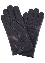 Paul Smith Navy Leather Gloves