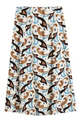 Etro Printed Wool Skirt Multicolor